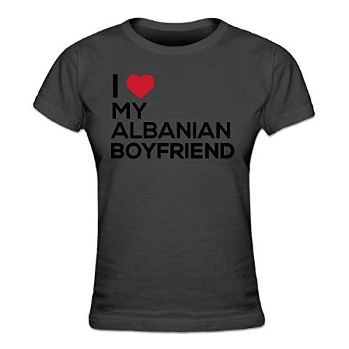 I Love My Albanian Boyfriend Frauen T-Shirt by Shirtcity