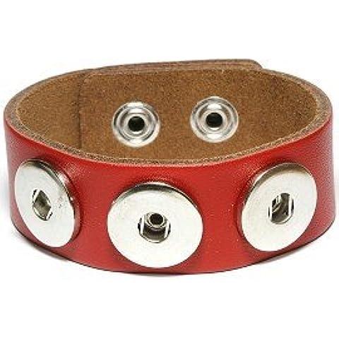 Epyen (TM) Snap Bracelet & Bangles vera pelle braccialetto di alta qualit¨¤ fai da te Snap Buttons Jewelry Tre Snaps - Bronzo Antico Di Figure