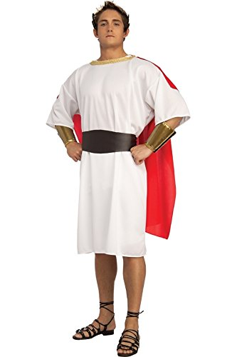 Caesar Halloween Kostüm - Adliges Krieger-Kostüm Römer-Toga Griechen Gr. 52 / 54 Julius Cäsar Antik Herrscher Verkleidung Fasching Karneval Herren Damen Halloween