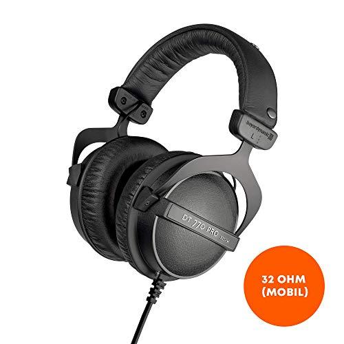 beyerdynamic DT 770 PRO 32 Ohm Over-Ear-Studiokopfhörer in schwarz. Geschlossene Bauweise, kabelgebunden für professionellen Sound im Studio und an mobilen Endgeräten wie Tablets und Smartphones (Beyerdynamic Dt 990 Pro)