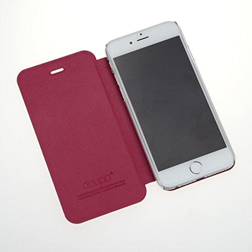 """iPhone 6 / 6S ( 4,7"""" ) Flip Hülle, doupi FlipCover Deluxe Magnet Schutzhülle Book Style Ständer Case, schwarz Schwarz"""