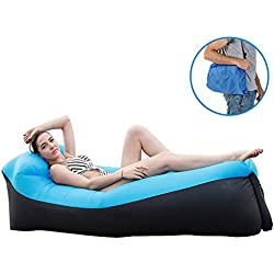 Gonflable canapé avec oreiller intégré Canapé gonflable, léger Portable étanche 210T Polyester Air Sofa gonflable Lounger,Air Canapé,pour toutes les activités en plein air ou à l'intérieur