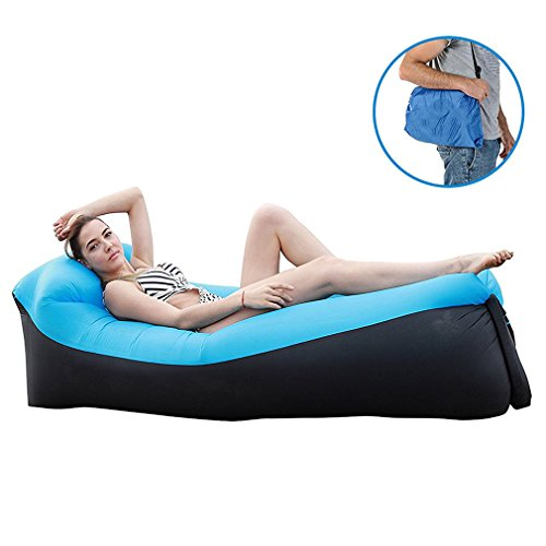 Sofa Hinchable, inflable cama con almohada integrada, Sofá Inflable Portátil aire sofá...