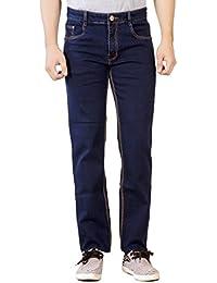 Par Excellence Men's Indigo Blue Relaxed Fit Jeans