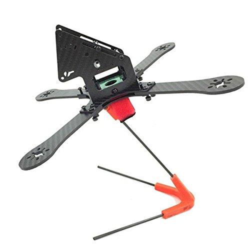 PhilMat GE-FPV GE-X240 Monster 4 Achsen Carbon Fiber-Rahmen-Kit mit Stromverteilungsplatine für Quadrocopter Ge Fiber