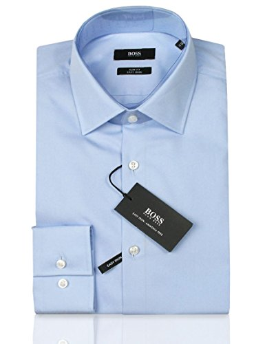 HUGO BOSS Business-Hemd | Jenno ( Slim Fit ) hellblau / blue (42 | L) (Weiße Jeans, Hugo Boss)