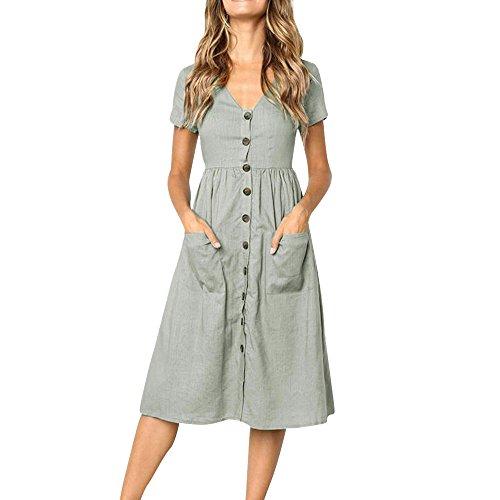 UFACE Damen Kleid mit Geknotetem Dekolleté Ohne Ärmel