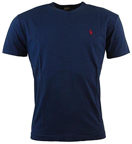 Polo Ralph Lauren Herren T-Shirt mit V-Ausschnitt (XX-Large, Navy) thumbnail