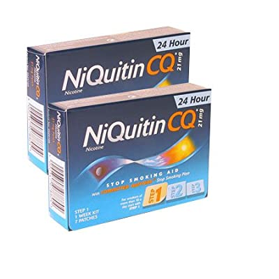 Niquitin CQ Patches 21mg Original - Step 1 - 7 Patches - PACK OF 2 by Niquitin