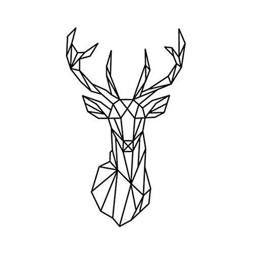 fragrant-geometrica-de-la-pared-de-los-ciervos-de-la-pared-de-la-etiqueta-geometria-animal-series-3d