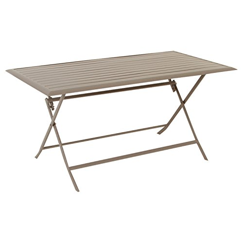Table pliante rectangulaire Azua - 6 Places - Taupe