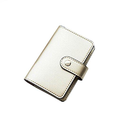 Portafoglio Piccolo Donna per Carte di Credito - Multi Slots Oro