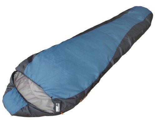 High Peak Lite Pak 800 Sacco a Pelo, 210 x 75/50 cm, Posizione Cerniera Aleatoria, colore: Azzurro/Blu Scuro