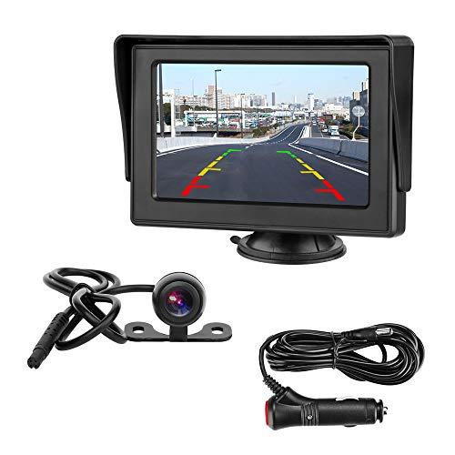 Rückfahrkamera mit 4.3\'\' LCD-Monitor Rückfahrkamera IP68 Wasserdicht Nachtsicht Kit Einparkhilfe System