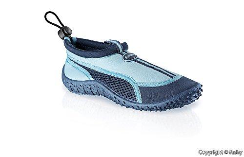 Fashy® Bambini Outdoor Sport e schwimmschuhe Aqua scarpe in Neoprene e mesh con suola TPR (Made in Germany) Marina/luce blu