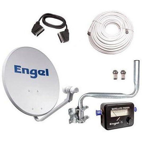 Kit Antena PARABOLICA Engel 60CM+ LNB+LOCALIZADOR + ...