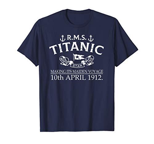 RMS Titanic Vintage Cruise Ship Atlantic Voyage Ocean Queen T-Shirt