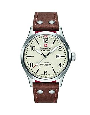 Reloj Cuarzo Swiss Military Para Hombre Con Beige Analogico Y Marrón Cuero 6-4280.04.002.05 de Swiss Military
