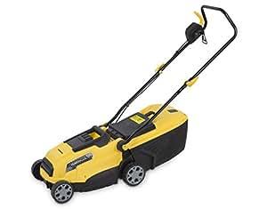 Powerplus POWXG6130Rasenmäher–Rasenmäher (Rasenmäher zum Schieben, rotierende Klingen, elektrischer Wechselstrombetrieb, schwarz, gelb)