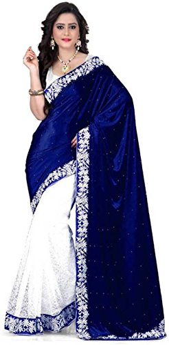 Laxmi Fashion Designer Blue velvet Saree