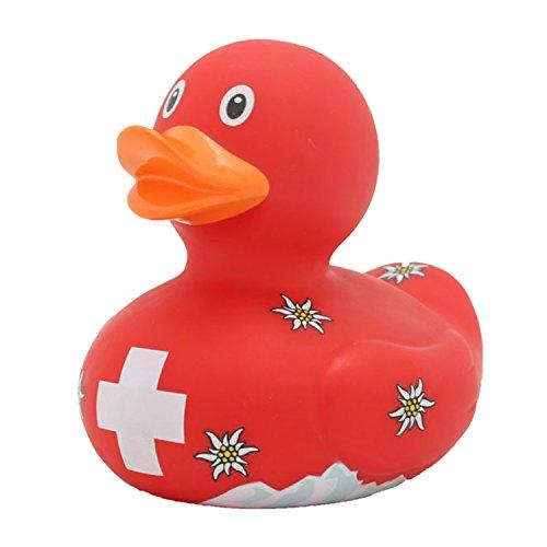 Lilalu 8,5cm Schweiz Ente Spielzeug (Mehrfarbig)