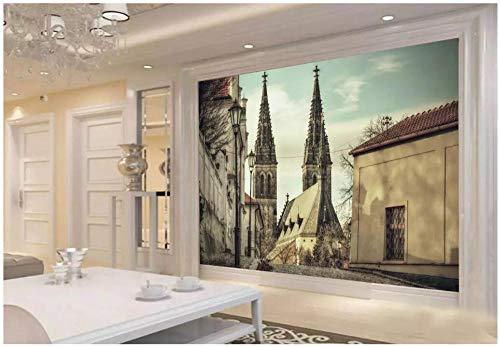 Benutzerdefinierten wandbild an der Wand minarett von Notre Dame de Paris Frankreich wohnkultur Wohnzimmer tapete wände für @ 430x300_cm_ (169.3_by_118.1_in_) _ ()