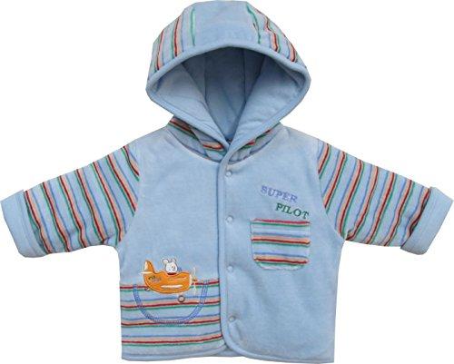 Schnizler Baby - Jungen Jacke Kapuzenjacke Nicki Super Pilot, warm wattiert, Gr. 74, Blau (original 900)
