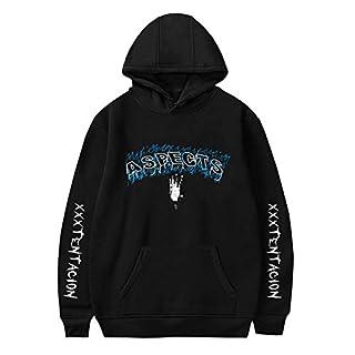 Herqw61 Unisex Xxxtentacion Hoodie Pullover Rapper Xxxtentacion Revenge Kapuzenpullover Pulli Sweatshirt für Damen Herren (L, Schwarz/Aspect)