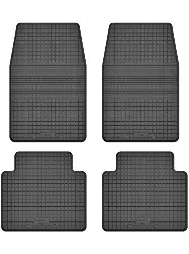 KO-RUBBERMAT Gummimatten Fußmatten 1.5 cm Rand geeignet zur Nissan NAVARA I (Bj. 1986-1997) ideal angepasst 4 -Teile EIN Set - Teile Nissan 1986