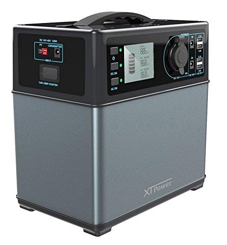 XTPower XT-400Wh Hochleistungsakku Energiespeicher mit Lithium-Ionen Zellen - Solar Generator - AC 220V 300W zusätzlich 12V, USB und KFZ Ausgang Solar Generator, Portable