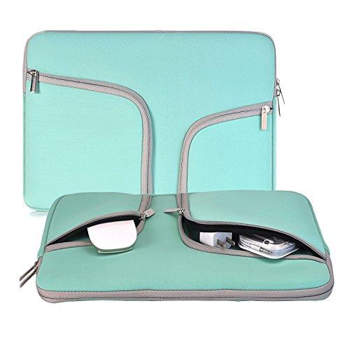 Egiant Funda protectora para portátil de 14-15.4 pulgadas para Macbook pro 15 Retina / Touch Bar A1707 / Chromebook 14 / Stream 14, Estuche portátil para computadora resistente al agua,Turquesa