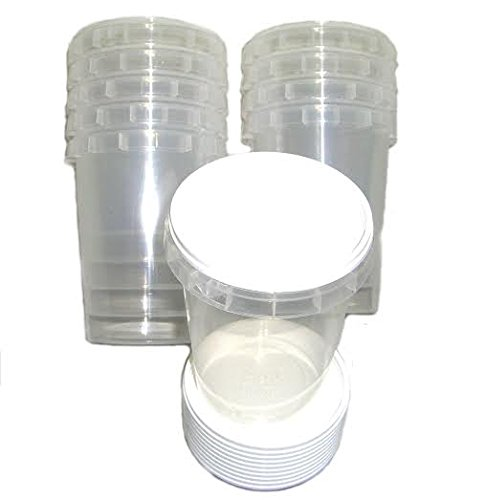 Lot de 100 pots à miel en plastique durable 500 g