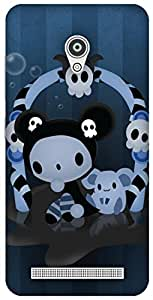 The Racoon Grip printed designer hard back mobile phone case cover for Asus Zenfone Go ZC500TG. (Spooky)