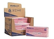 Wypall X50 7444 Panni per La Pulizia, 6 confezioni X 50 Panni Piegati A 1 Velo, Rosso