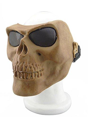 XY Metallmaske für Radfahren/Halloween/Paintball, Totenkopf/Skelett, 012765, (Dem Kopf Off Mit Kostüm)