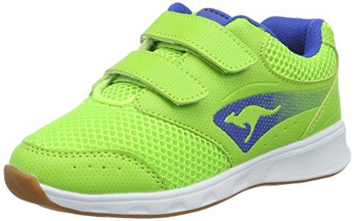KangaROOS Rodo V, chaussons d'intérieur mixte enfant Grün (Lime/Electric Blue)