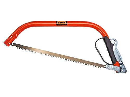 G-Man Kompakt Bogensäge, Universalsägeblatt, roter Stahlbogen, Kunststoff-Handschutzbügel