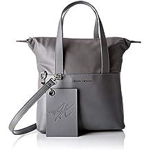e78d4657b5 ARMANI EXCHANGE Small Shopping Bag - Borse a spalla Donna, Grigio (Grey  Goose)