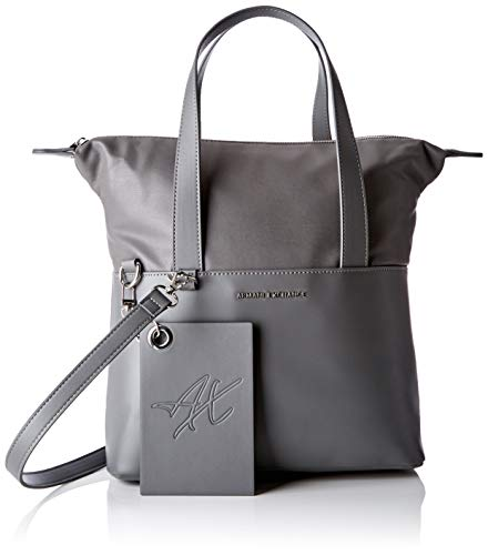 ARMANI EXCHANGE Small Shopping Bag - Borse a spalla Donna, Grigio (Grey Goose), 29.0x12.0x44.0 cm (B x H T)