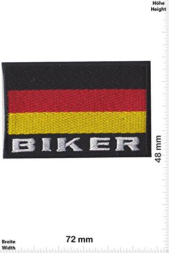 Patch-Iron-Deutschland Biker Flagge - Germany Flag - - Länder - Deutschland - Iron On Patches - Aufnäher Embleme Bügelbild Aufbügler -