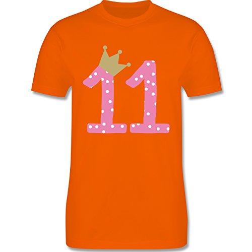 Geburtstag - 11. Geburtstag Krone Mädchen Elfter - Herren Premium T-Shirt Orange