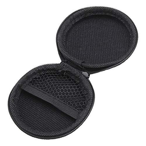 Colorful Tragetasche für Ohrhörer, kopfhörer Tasche Schutztasche Mini Zipper Praktische Tragetasche für In-Ear Kopfhörer Ohrhörer SD-Karte (Schwarz) - 4