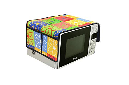 AEROHAVEN™ Designer Microwave Oven Top Cover with 4 Pockets(2 Each Side) Suitable for Any Brand. Capacity - 20-30 Litre(35.5 cms x 86 cms) (Multicolor (Floral))