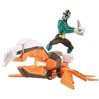 Power Rangers Samurai – Zord Scarabée + Mega Ranger Vert - Figurine 10 cm
