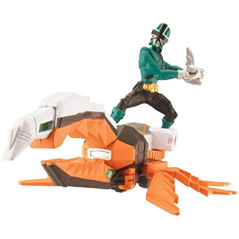 Power Rangers Samurai de Super Beetle Zord Vehículo Set - Green
