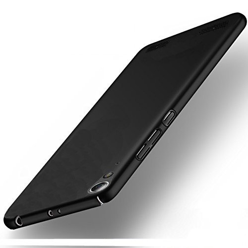 """Lenovo A6000 / A6000 Plus All Sides Protection """"360 Degree"""" Sleek Rubberised Matte Hard Case Back Cover (Black)"""