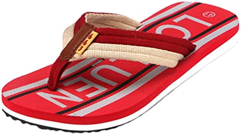 Yiiquanan Chanclas para Hombre Zapatos de Playa y Piscina Verano Fiesta Flip Flops con Carta Impresa