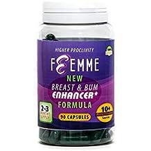 Femme - Pastillas para agrandar el pecho, para mujeres y para hombres, curvas femeninas