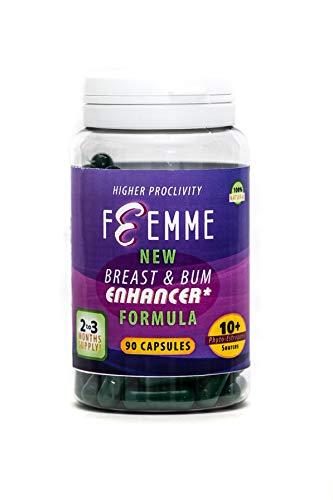 Femme - Pillen für die Brustvergrößerung, für Frauen und für Männer, weibliche Kurven für alle Geschlechter. 90 Kapseln. Normalerweise wird nur 1 Kapsel pro Tag benötigt.