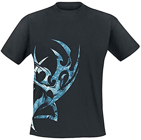 Blue Steel T-Shirt schwarz 4XL (Steel Blue T-shirt)